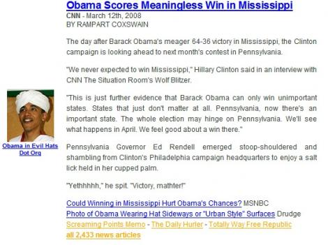 Obama Scores Meaningless Win In Mississippi
