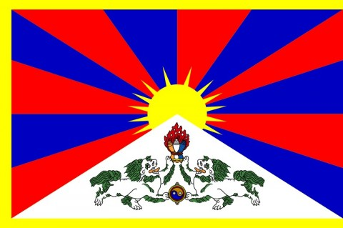 The Flag of the Tibetan Government-in-Exile