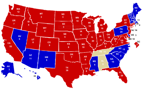 electoral votes after west virginia